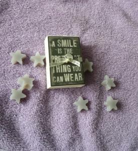 Doosje zeepjes, a smile....