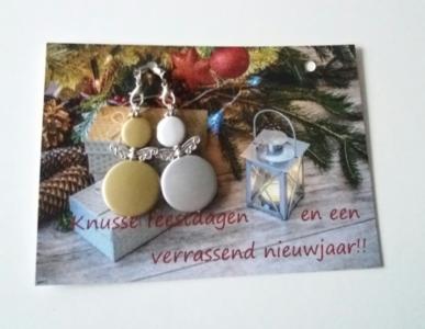 Kerst/Nieuwjaarskaart met engeltjes