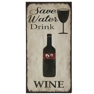 Magneet, save water drink wine