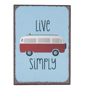 Vw busje, live simply magneet