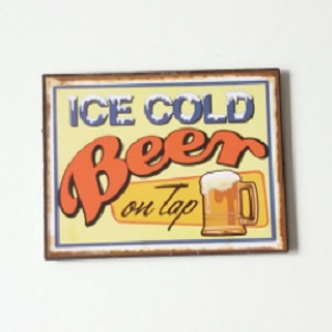 Magneet, ice cold beer on tap