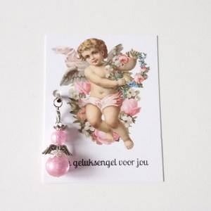 Een geluksengel voor jou, met roze engeltje