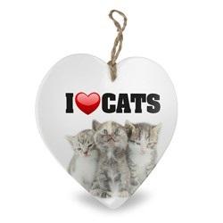 I love cats, hart van keramiek