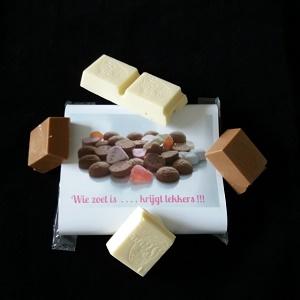 Chocola, wie zoet is krijgt lekkers