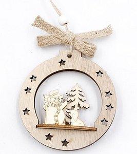 Kersthanger sneeuwpop van hout