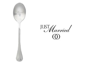 Just married, one message spoon