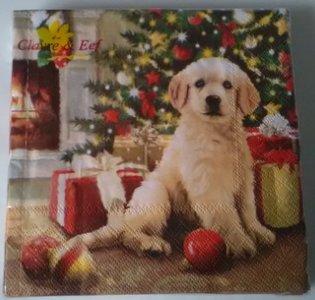 Servetten, kerst hond