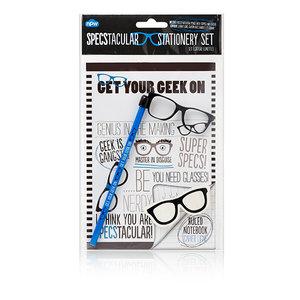 Stationeryset bril (blauw)