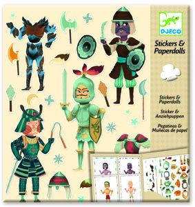 Djeco stickers en Poppetjes van papier (Ridders)