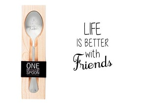 Life is better with friends, lepel