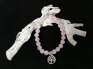 Natuursteen armband rozenkwarts