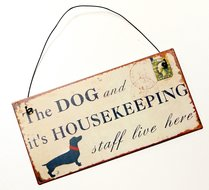 The dog and it's housekeeping