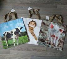 Tas met dierenprint