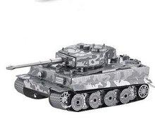 3d metalen puzzel, tank