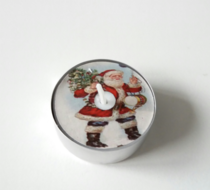 Kerstman, waxinelichtjes