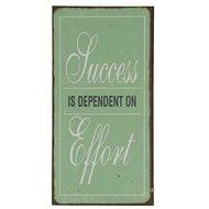 Success is dependent on effort