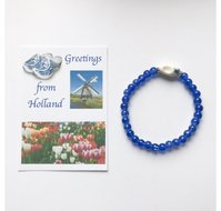Groeten uit Holland, kralenarmband met klompje