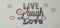 Waxine cover, live laugh love