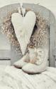 Bordje, witte schoentjes en een hart
