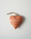 Metalen hart, rood