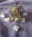 Doosje zeepjes, kerstman met kinderen